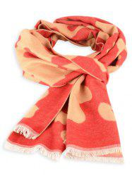 Cow Skin Fringed Edge Winter Scarf -