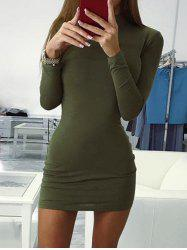 Mock Neck Bodycon Dress -