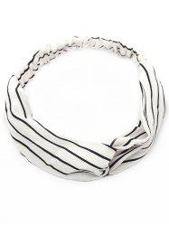 Vintage Two Tone Striped Elastic Hair Band -