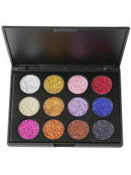 12 Colors Glitter Powder High Pigmented Natural Eyeshadow Palette - #01