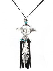 Faux Turquoise Feuille Fly Eagle Tassel Pull Chain -