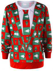 Christmas Pinetree Graphic Crew Neck Sweatshirt -