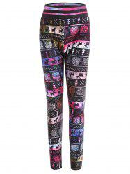Plus Size Christmas Elk Print Leggings -
