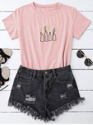 Graphic Embroidered T-Shirt -