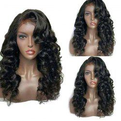 Long Deep Side Parting Fluffy Loose Wave Lace Front Synthetic Wig -