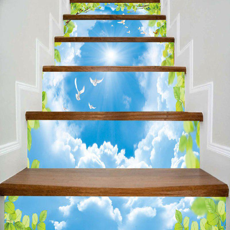 Hot Sky Flying Pigeon Printed Decorative Stair Stickers