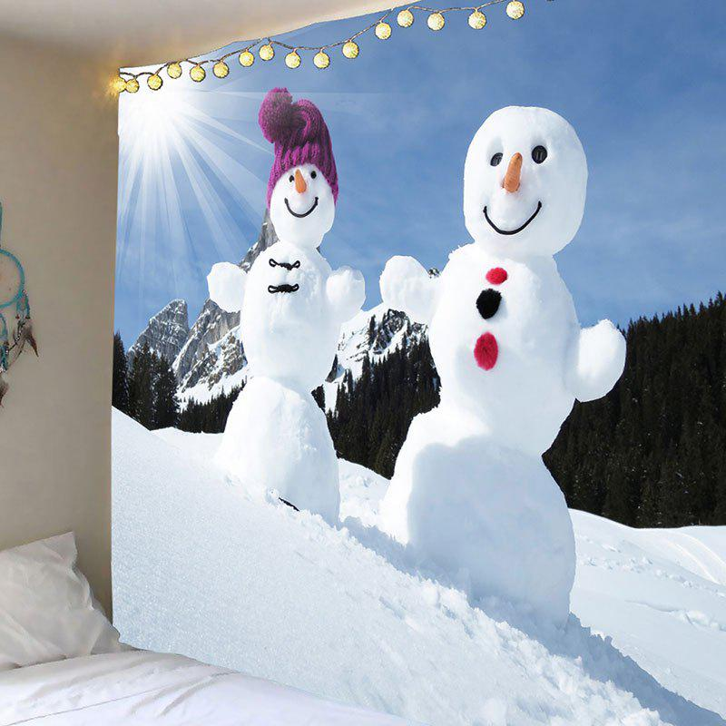 Outfit Decorative Snowmen Couples Pattern Wall Art Tapestry