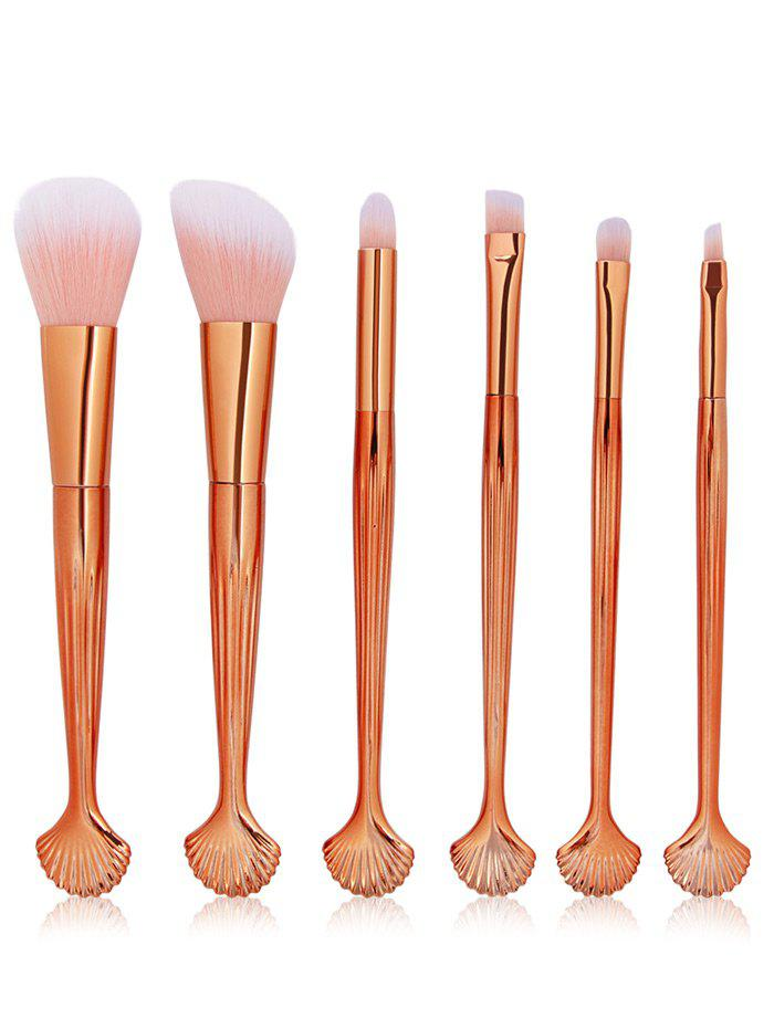 6 Pcs Seashell Makeup Brush Set 236551001
