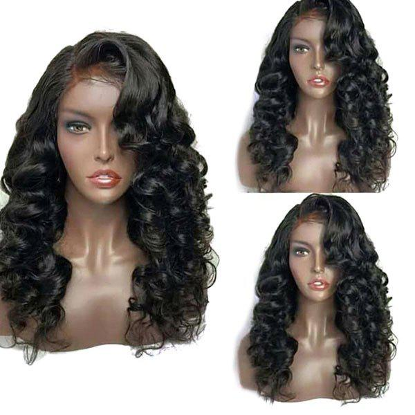 Buy Long Deep Side Parting Fluffy Loose Wave Lace Front Synthetic Wig