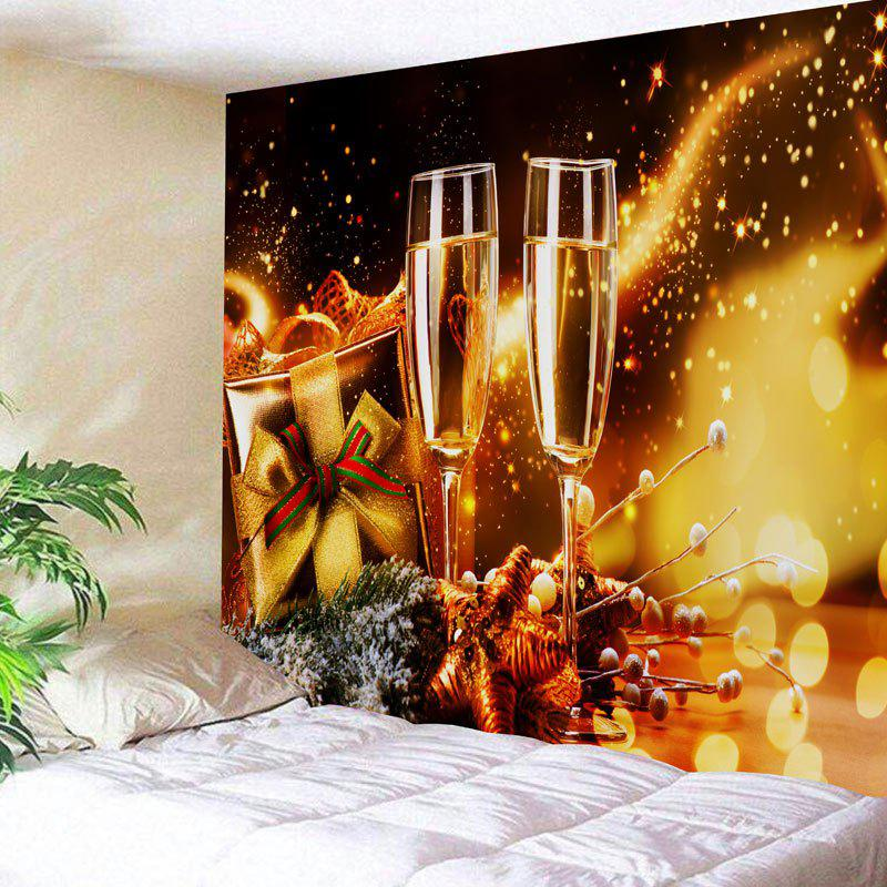 Shops Christmas Two Champagne Glasses Print Wall Art Tapestry