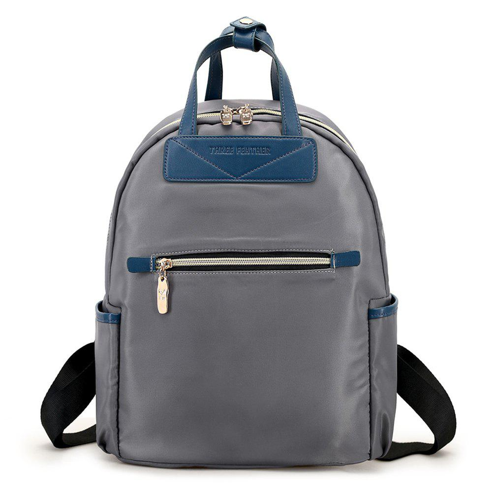 Chic Nylon Double Handles Color Block Backpack