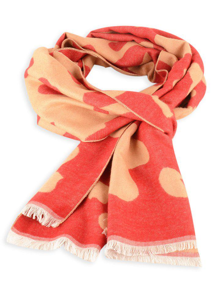 Buy Cow Skin Fringed Edge Winter Scarf
