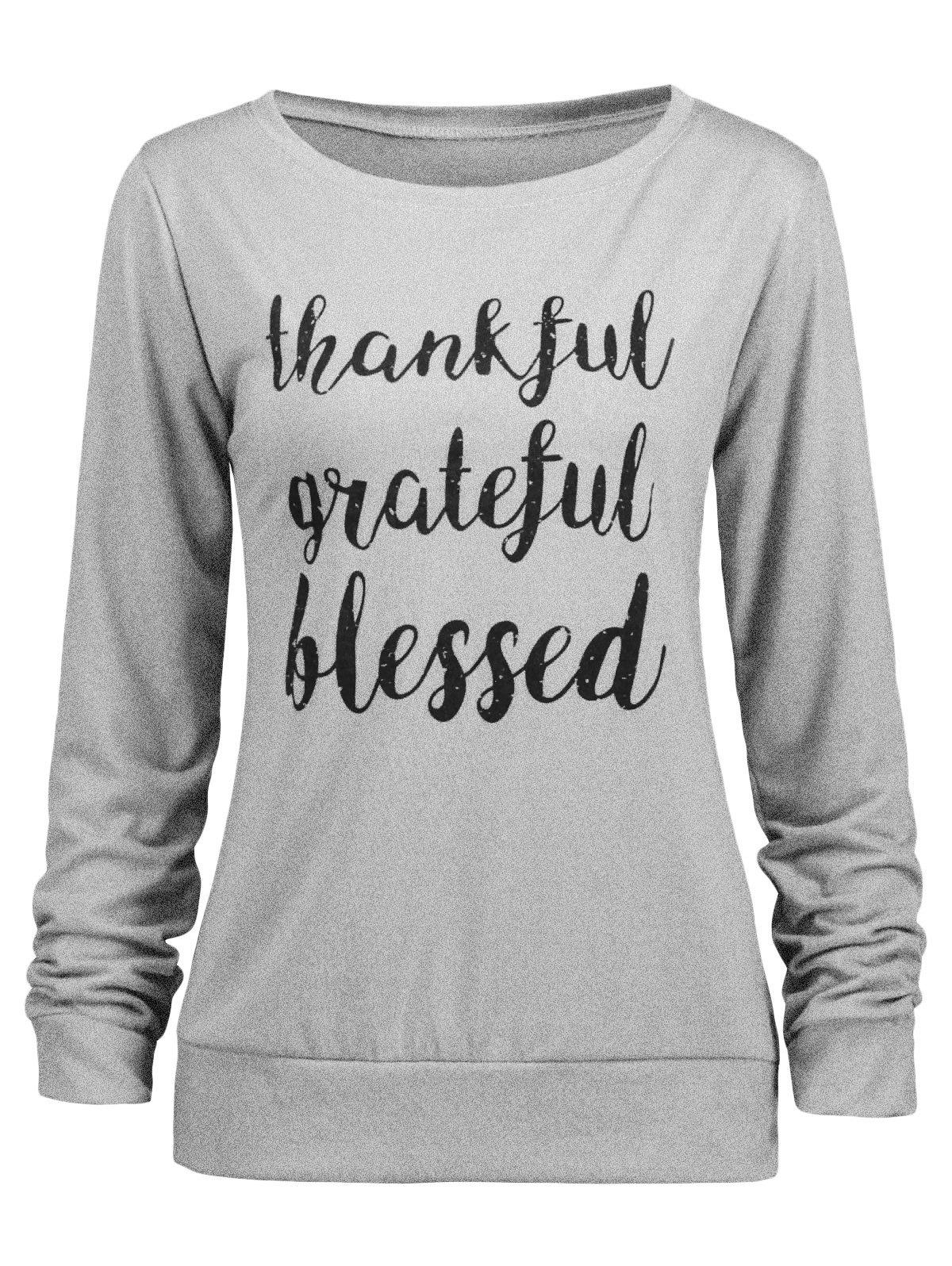 Affordable Thanksgiving Blessed Thankful Sweatshirt