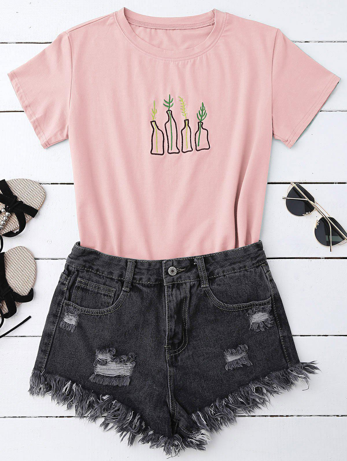 Cheap Graphic Embroidered T-Shirt