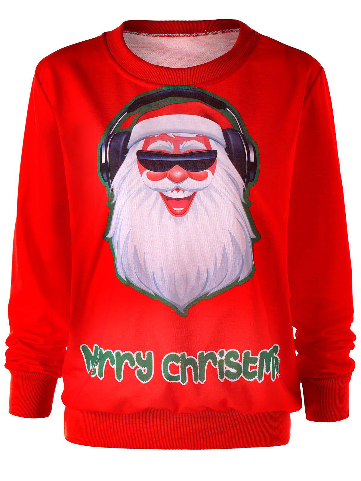 Cheap Santa Claus Christmas Crew Neck Sweatshirt