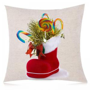 Christmas Candies Sock Printed Throw Pillow Case -