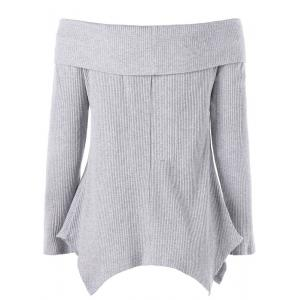 Off The Shoulder Manches longues Irregular Tricots -