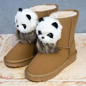 Little Bear Pendant Slip On Snow Boots -