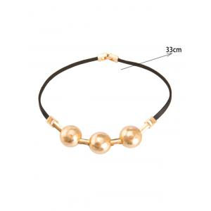 Alloy Artificial Leather Choker Necklace -