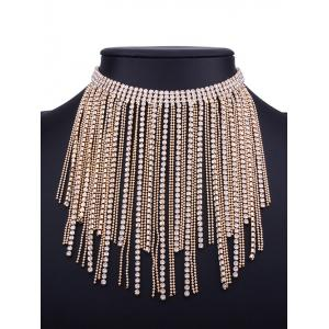 Faux Jewelry Multilayer Long Tassel Chokers Necklace -