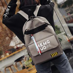 Print Letter Color Block Striped Backpack -