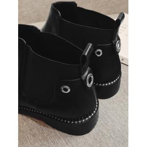 Eyelets Pointed Toe Rivets Boots -