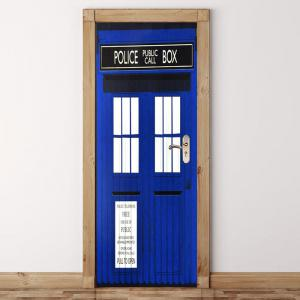Environmental Removable Blue Police Station Printed Door Stickers -