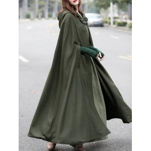 Cloak Coat with Double Breasted -