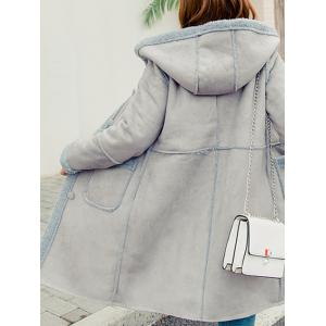 Front Pockets Faux Shearling Coat -