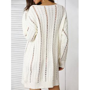 Plunging Neck Hollow Out Sweater -