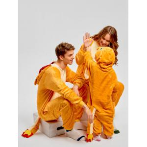 Famille de Noël Fiery Dragon Animal Onesie Pyjama -