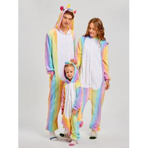 Rainbow Unicorn Animal Christmas Family Onesie Pajamas -