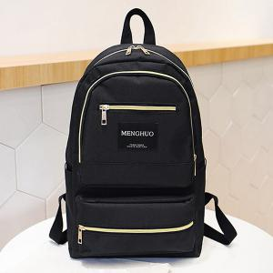 Multi Pockets Letter Backpack With Handle -