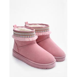 Low Heel Snow Boots -