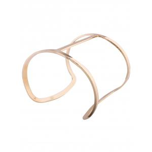 Hollow Out Metal Wide Cuff Bangles -