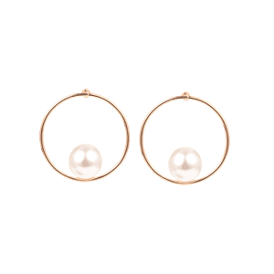 Boucles d'oreilles en forme de collier en alliage artificiel -