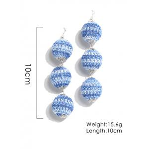 Bohemian Braid Boucles d'Oreilles Ball Drop -