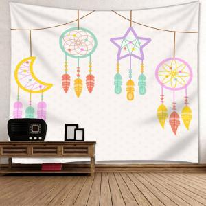 Star Moon Dreamcatcher Printed Wall Art Tapestry -