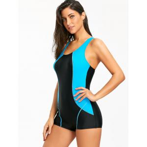 Surf Color Block Racerback One Piece Swimwear -