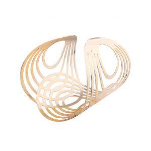 Hollow Out Alloy Cuff Bracelets -