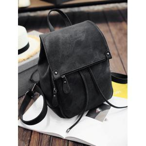 Faux Leather Multi Function Backpack With Handle -