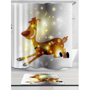 Running Elk à motifs Bath Decor Rideau de douche -