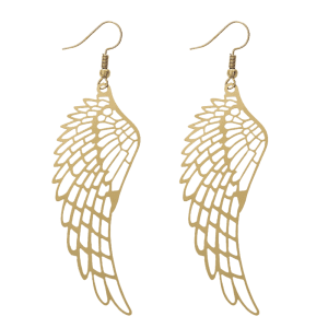 Alloy Angel Wing Hook Earrings -