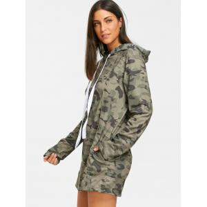 Exposed Seam Camo Hoodie Dress -