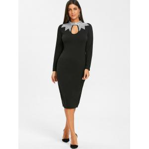 Robe fourreau à encolure en v -