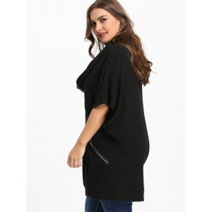 Plus Size Batwing Sleeve Hooded Coat -