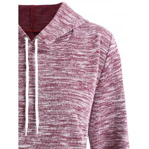 Plus Size Heathered Hoodie with Pocket -