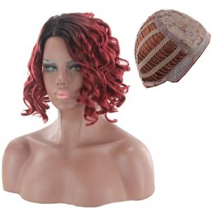 Short Side Parting Wavy Ombre Synthetic Wig -