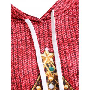 Plus Size Christmas Hoodie with Pockets -