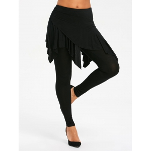 High Waisted Handkerchief Skirted Leggings -